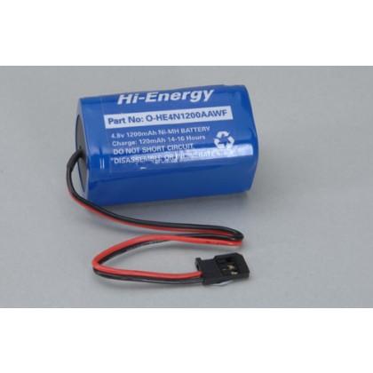Hi-Energy 4.8V 1200mAh Ni-MH Rx Pk Square O-HE4N1200AAWF