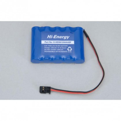 Hi-Energy 6.0v 1200mAh NiMH Rx Pack Flat O-HE5N1200AASF 5028967301492