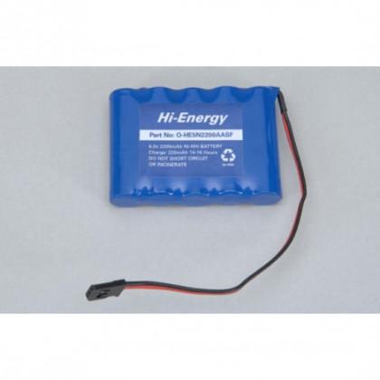 Hi-Energy 6.0v 2200mAh NiMH Rx Pack Flat O-HE5N2200AASF 5028967301515