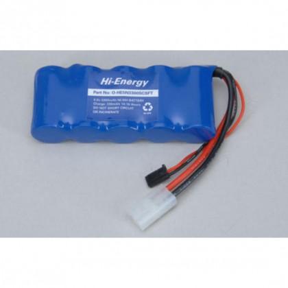 Hi-Energy 6.0v 3300mAh NiMH Rx Pack Flat O-HE5N3300SCSFT 5028967301478
