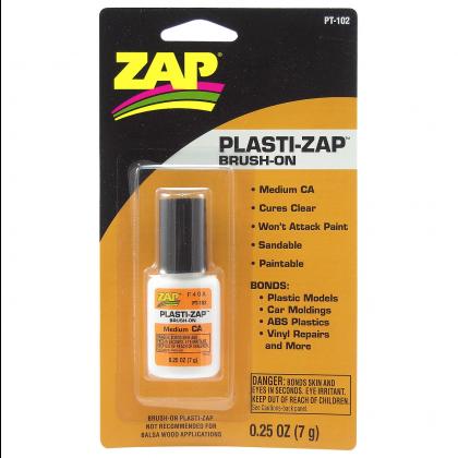 ZAP PLASTI-ZAP Medium CA 1/4 oz. Brush-On PT102