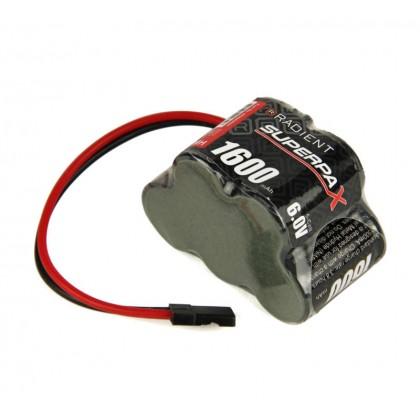 Radient NiMH 6.0V 1600mAh 2/3A 3-2 Hump, Rx-JR RDNA0089