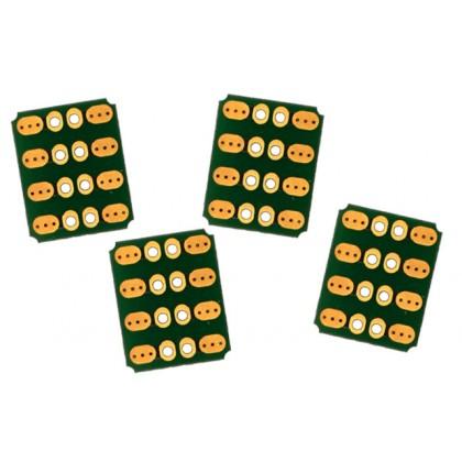 Emcotec Soldering PCB 90° 8pin, 4 Pieces A85320