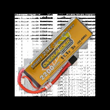2200mAh 3S 11.1v 25C Lipo Battery Deans - Overlander Sport 2965