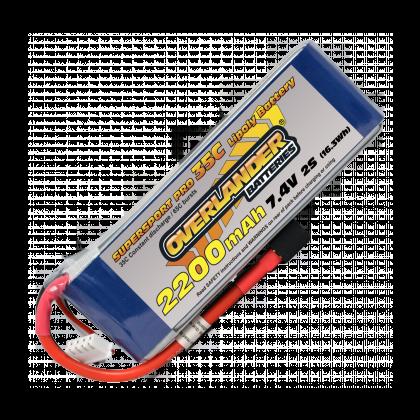 2200mAh 2S 7.4v 35C Supersport Lipo Battery from Overlander