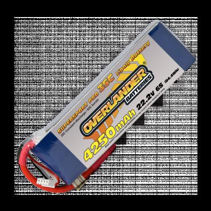 4250mAh 6S 22.2v 35C LiPo Battery - Overlander Supersport Pro