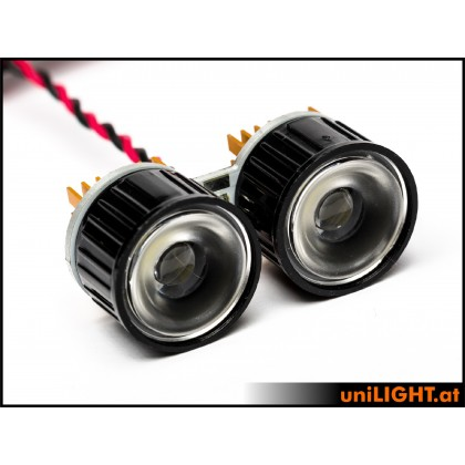 UniLight 2x4W Double Spotlight 22mm White