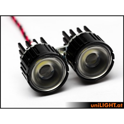 UniLight 2x8W Double-Spotlight 22mm T-Fuse White