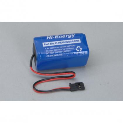 Hi-Energy 4.8v 2200mAh NiMH Rx Pack Square O-HE4N2200AAWF 5028967295074