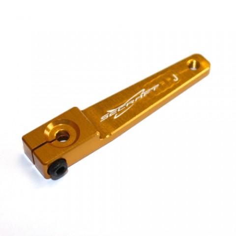 """Secraft JR / Spektrum V2 1.5"""" (M3) Servo Arm (Gold) SEC006"""