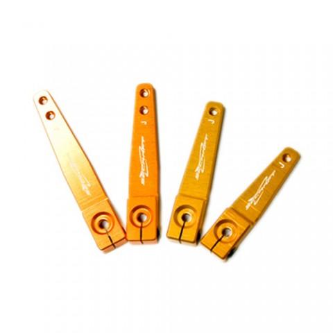 """Secraft JR / Spektrum V2 1.75"""" (M3) Servo Arm (Gold) SEC115"""