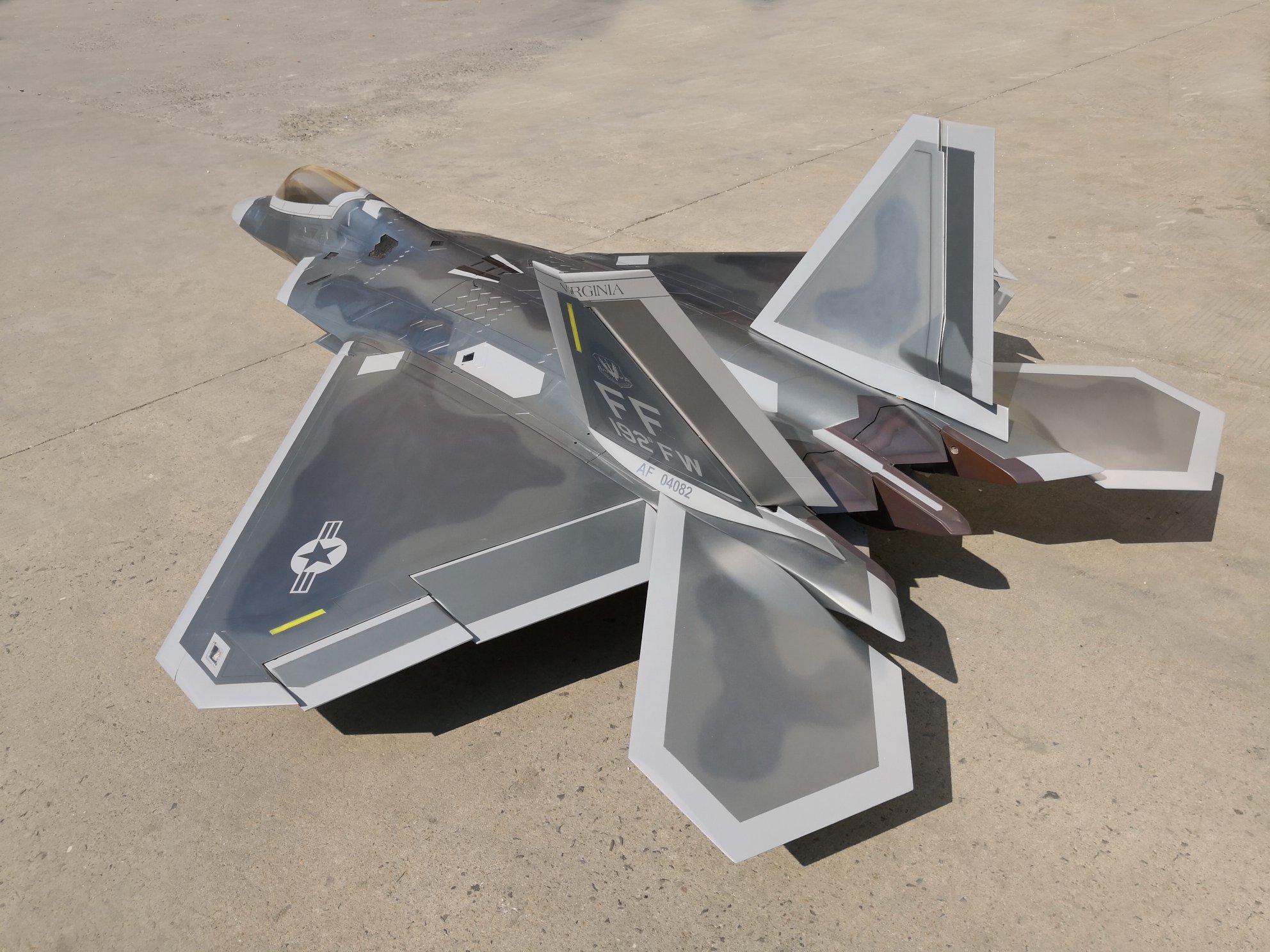 F-22 Raptor 1/7th Scale Jet