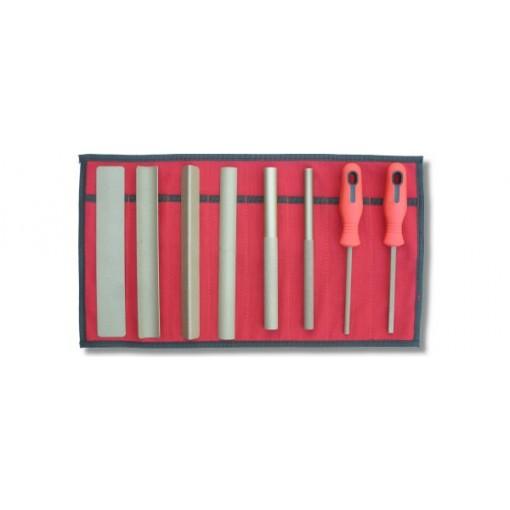 Perma-Grit Set Of 8 Hand Tools In Wallet Fine Grade SET8F