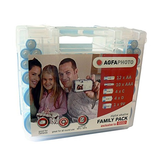 Agfaphoto Battery Family Pack with Carry Case (31 Pieces) APFPALK31