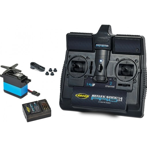 Carson Model Sport Reflex Pro Stick 3 Transmitter with Reciever & Steering Servo