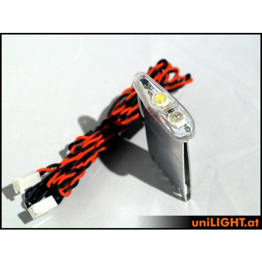 UniLight 16Wx2 Navigation & Strobe, 11mm, T-Fuse Red-White