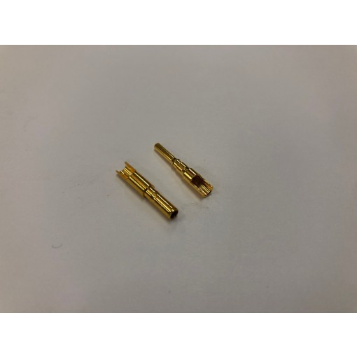 2mm Gold Bullet Connector Set (Easy Solder) - 1 Pair