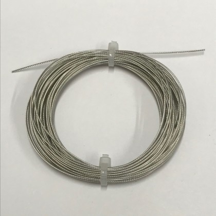 0.7mm Closed Loop Nylon Covered Trace Wire 10m Extra Flexible 50lb 22.6kg strain