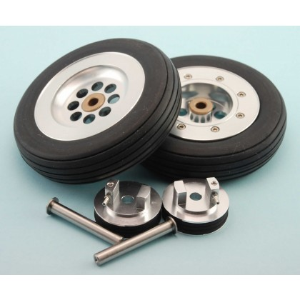 102mm (4 inch) Wheels, Mains Set with Brake Units & Axles from Intairco IAC-5004