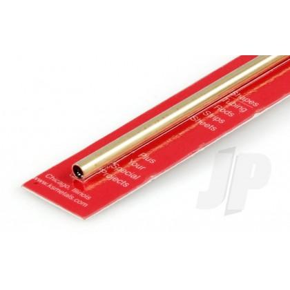 "K&S 7/32 x .014 Round Brass Tube 12"" (1 Pack) 130"