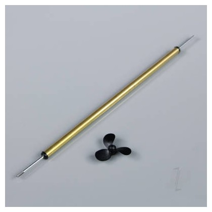 15cm (6in) M2 Boat Propeller Shaft (Brass) with 30mm Prop Ideal for The Wooden Model Boat Company Models 5511125