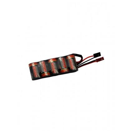 Overlander 2/3 AF 1600mAh 6V Flat BEC Premium Sport NiMH Battery