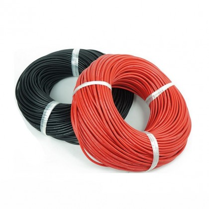 Silicone Wire - 22AWG - Red Sold per 1M length from the reel