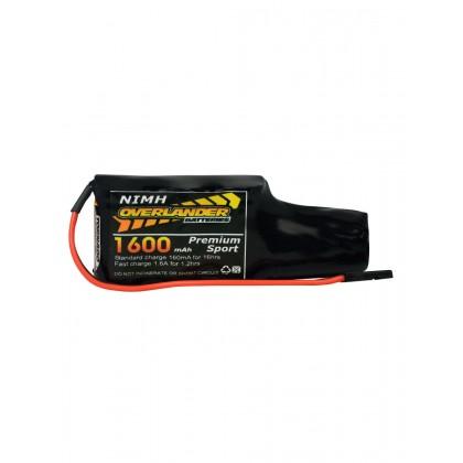 Overlander Nimh Battery Pack 2/3 AF 1600mah 4.8v Receiver Config (4+1) Premium Sport 3297