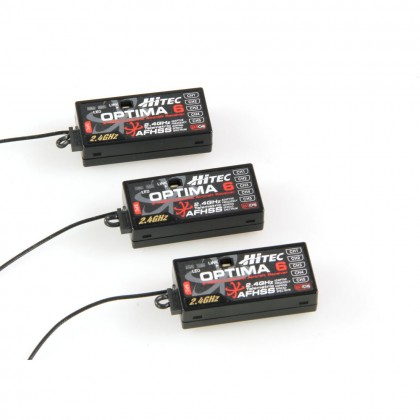 Hitec Optima 6 Rx Triple Pack AFHSS Batt. Telemetry 2226630