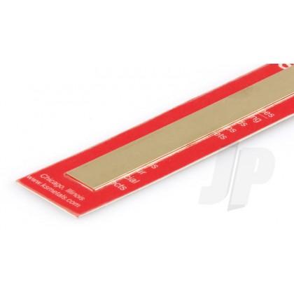 "K&S .032 x 1 Brass Strip 12"" (1 Pack) 242"
