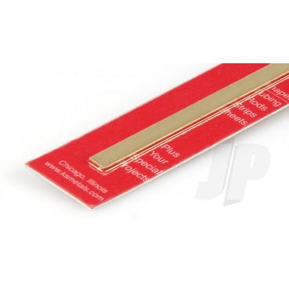 "K&S .064 x 1/4 Brass Strip 12"" (1 Pack) 245"