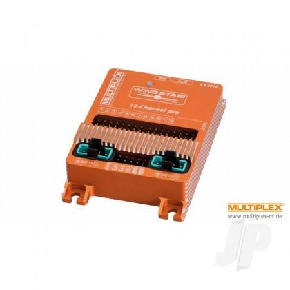 Multiplex WINGSTABI 12-channel 3-axis Gyro, 35A battery backer (55014) 2555014