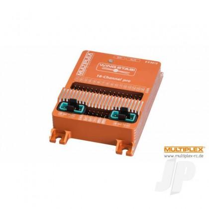 Multiplex WINGSTABI 16-channel 3-axis Gyro, 35A battery backer (55015) 2555015