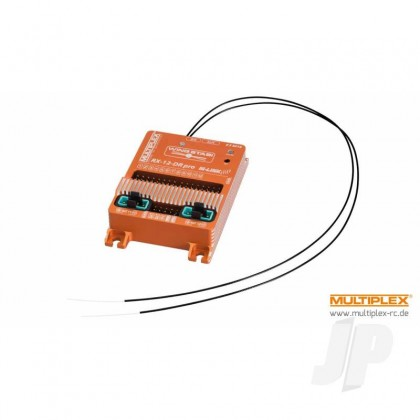 Multiplex WINGSTABI 12-channel 3-axis Gyro Dual-Rx, 35A battery backer (55016) 2555016