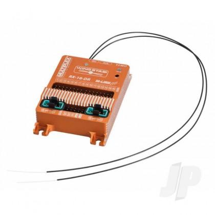 Multiplex WINGSTABI 16-channel 3-axis Gyro Dual-Rx, 35A battery backer (55017) 2555017