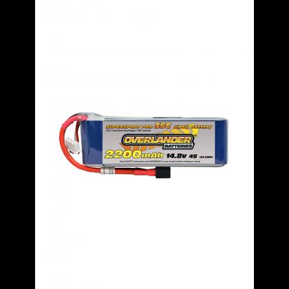 Overlander 2200mah 14.8V 4S 35C Supersport Pro LiPo Battery - EC3 - 2568