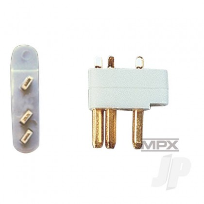 Multiplex 3-Pin Servo Plugs 5pcs (MULTIPLEX) 85218 2585218