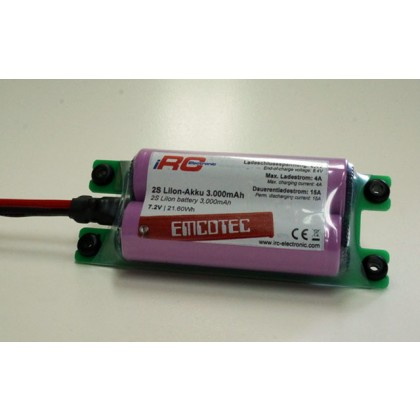 2S LiIon battery 3000mAh Compact 15A from Emcotec A43065-2570