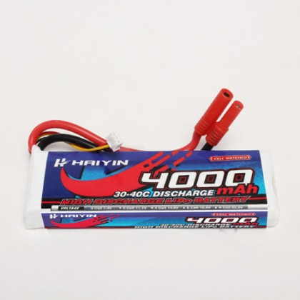 Haiyin - 2S 4000mAh 30-40C High Discharge LiPo Battery