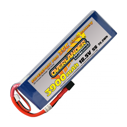 Overlander Supersport Pro 3900mAh 5S 18.5v 35C LiPo Battery 3191