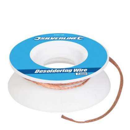 Silverline Desoldering Wire 1mm 336736