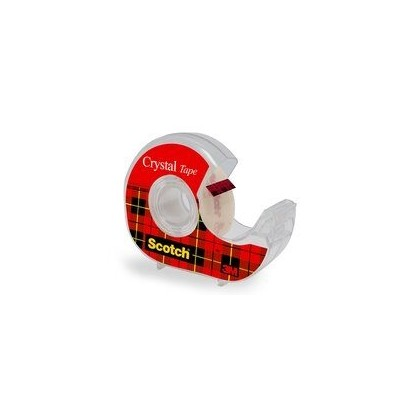 3M Scotch Crystal Tape 19mm x 7.5m With Dispense