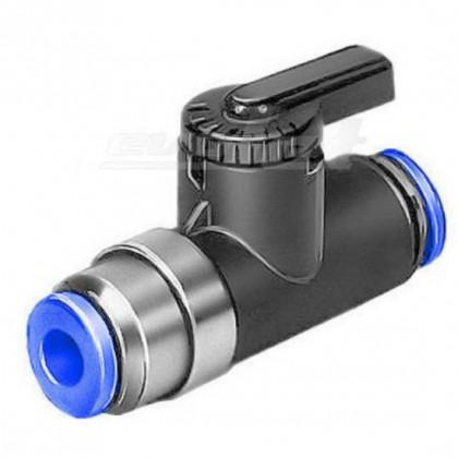 6mm Festo Ball Valve Tap with Arm - QS6