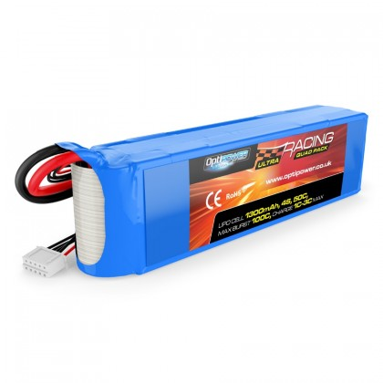 Optipower Ultimate Quad Racing LiPo 1300mAh 4S 50C OPR13004S50