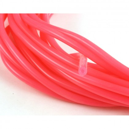 J Perkins 2mm (3/32) Silicone Fuel Tube Neon Pink 1m 5508547