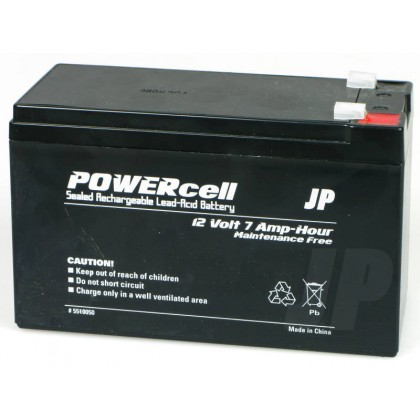 J Perkins 12V 7Ah Powercell Gel Battery 5510050