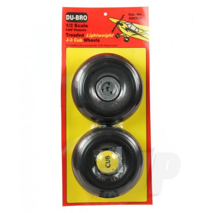 Dubro 1/3 Scale Trded Lightweight J-3 Cub Wheels (5-5/8 Dia.) DB558Tlc