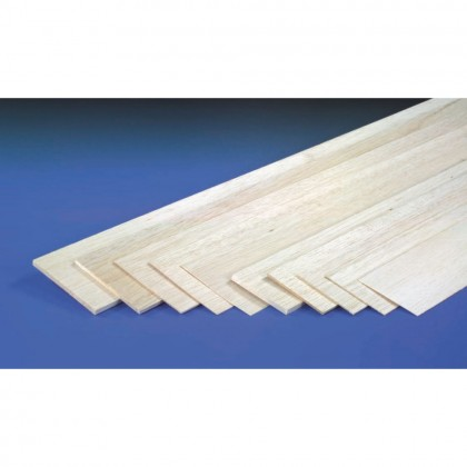 J Perkins 12mm 1mx100mm Sheet Balsa 5518053