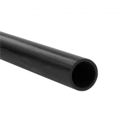 J Perkins 2.5x1.5mm 1m Carbon Fibre Round Tube 5518401