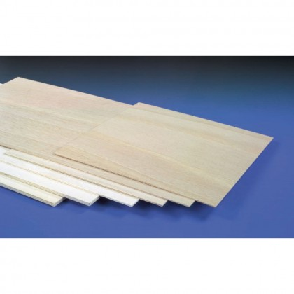 J Perkins 2mm (3/32in) 1200x600mm Light Ply (Gos) 5521194